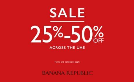 25% - 50% Sale at Banana Republic, July 2017