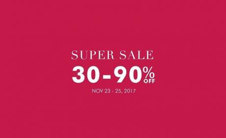 30% - 90% Sale at Banana Republic, November 2017