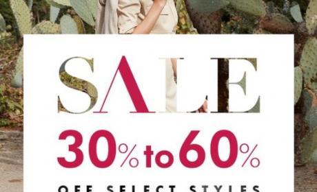 30% - 60% Sale at Banana Republic, April 2018