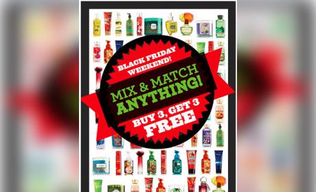 Buy 3 and get 3 Offer at Bath & Body Works, November 2014