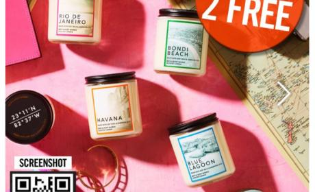 Buy 1 and get 2 Offer at Bath & Body Works, June 2018