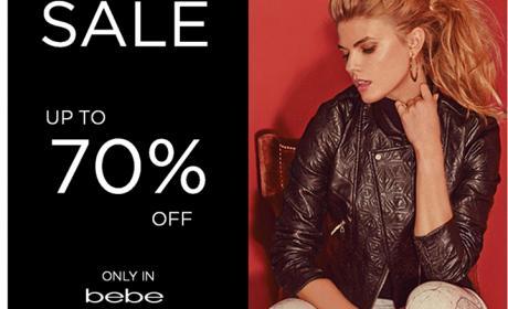 Up to 70% Sale at Bebe, November 2014