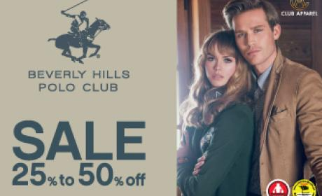 25% - 50% Sale at Beverly Hills Polo Club, January 2016