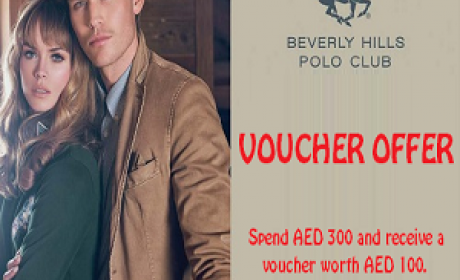 Spend 300 and get back AED 100 Offer at Beverly Hills Polo Club, April 2016