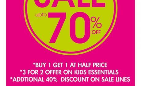Buy 1 get 1 at half price Offer at BHS, June 2014