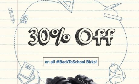 Up to 30% Sale at Birkenstock, August 2017