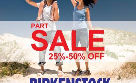 25% - 50% Sale at Birkenstock, August 2018