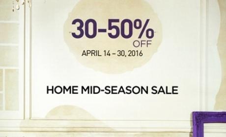 30% - 50% Sale at Bloomingdale's Home, April 2016