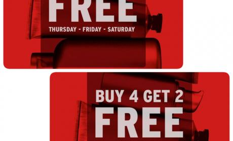 Buy 4 and get 2 Offer at The Body Shop, July 2017