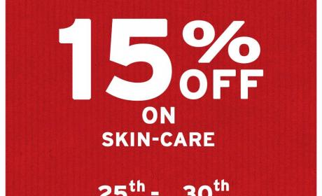Up to 15% Sale at The Body Shop, November 2015