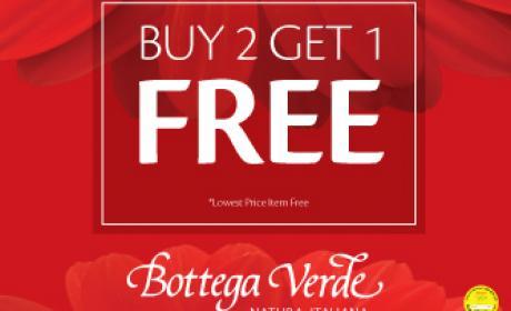 Buy 2 and get 1 Offer at Bottega Veneta, January 2017