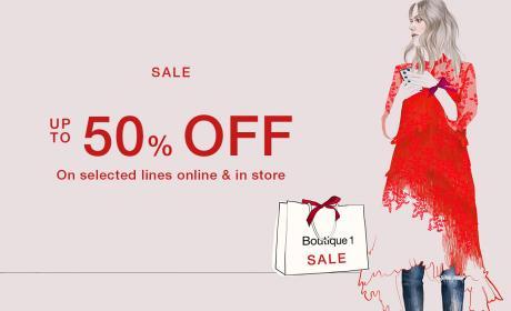 30% - 50% Sale at Boutique 1, June 2017
