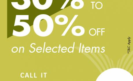 30% - 50% Sale at Call It Spring, August 2017
