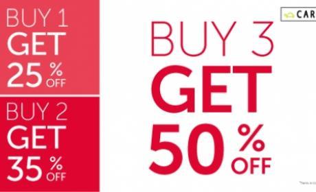 Buy 3 and Get 50% off Offer at Carpisa, September 2016