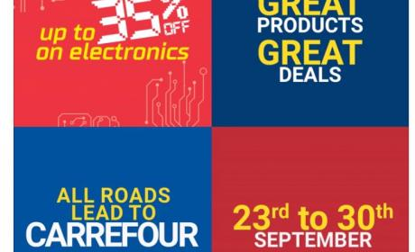 Up to 35% Sale at CARREFOUR, September 2017
