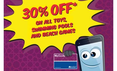 Up to 30% Sale at CARREFOUR, October 2017