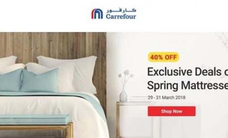 Up to 40% Sale at CARREFOUR, March 2018