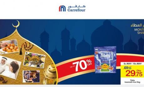 Up to 70% Sale at CARREFOUR, May 2018