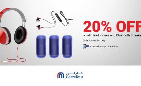 Up to 20% Sale at CARREFOUR, July 2018
