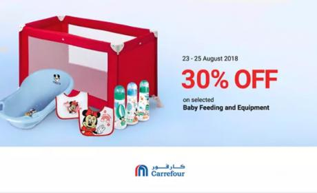 Up to 30% Sale at CARREFOUR, August 2018