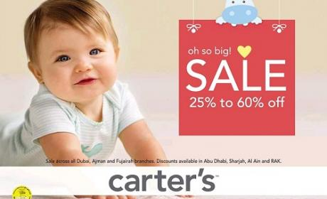 25% - 60% Sale at Carter's, October 2016