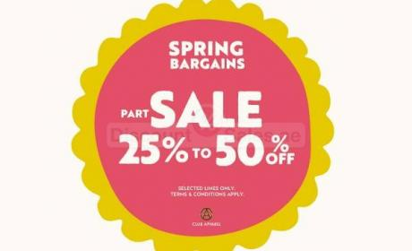 25% - 50% Sale at Cath kidston, May 2017