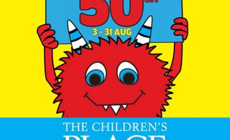 25% - 50% Sale at THE CHILDREN'S PLACE, August 2014