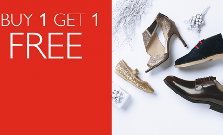 Buy 1 and get 1 Offer at Clarks, July 2017