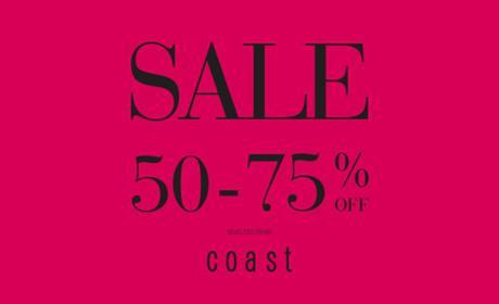 50% - 75% Sale at Coast, August 2018