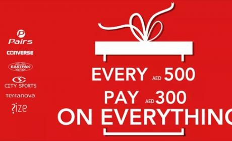 Spend 500 and pay only AED 300 Offer at Converse, February 2018