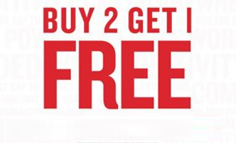 Buy 2 and get 1 Offer at Cotton On, May 2016