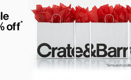 25% - 50% Sale at Crate & Barrel, August 2016