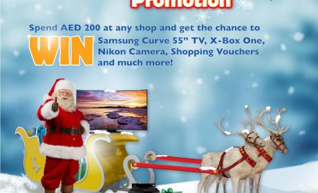Spend 200 and get the chance to WIN Samsung TV, X-Box One and much more Offer at Dalma Mall, December 2014