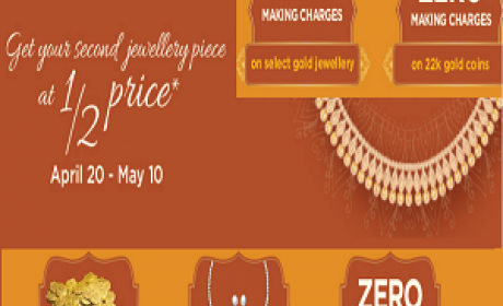 Buy 1 and get your second jewellery at half price Offer at Damas, May 2016