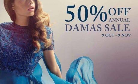 Up to 50% Sale at Damas, November 2016
