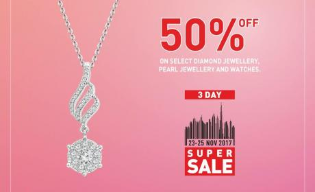 Up to 50% Sale at Damas, November 2017