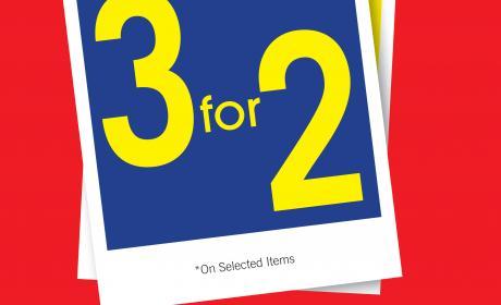 Buy 2 and get 1 Offer at Debenhams, May 2017