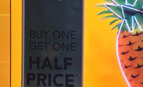 Buy 1 and get one for half price Offer at Debenhams, May 2017