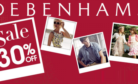 Up to 30% Sale at Debenhams, October 2016