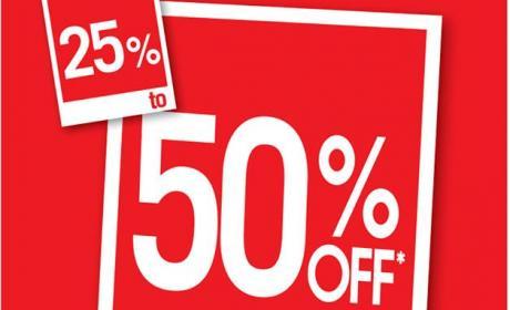 25% - 50% Sale at Debenhams, November 2016