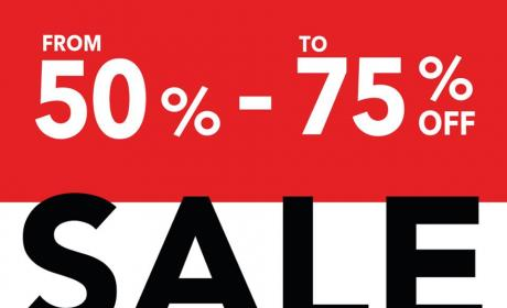 50% - 75% Sale at Debenhams, January 2018