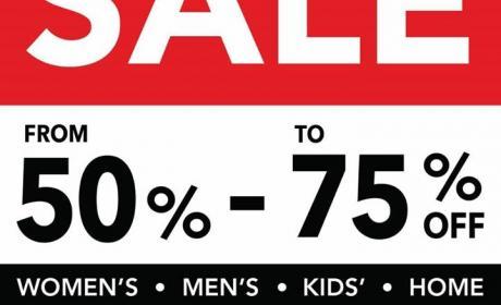 50% - 75% Sale at Debenhams, April 2018