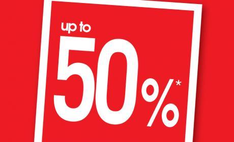 Up to 50% Sale at Debenhams, May 2018