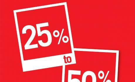 25% - 50% Sale at Debenhams, August 2018