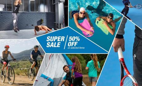 30% - 50% Sale at Decathlon, August 2017
