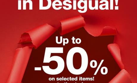 Up to 50% Sale at Desigual, February 2015