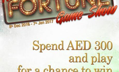 Spend 300 and play our Mall of Fortune for a chance to win great prizes! Offer at Dubai Marina Mall, December 2016