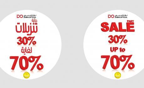 30% - 70% Sale at Dubai Optic, January 2018