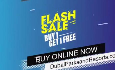 Buy 1 and get 1 Offer at Dubai Parks and Resorts, July 2018