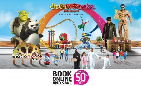 Up to 50% Sale at Dubai Parks and Resorts, April 2018